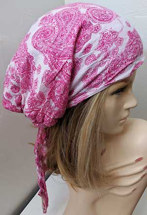 Pink Paisley - Long Easy Scarf