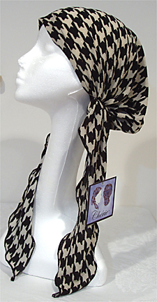 Houndstooth - Long Easy Scarf